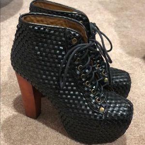 Jeffrey Campbell Leather Litas Women Size 7.5